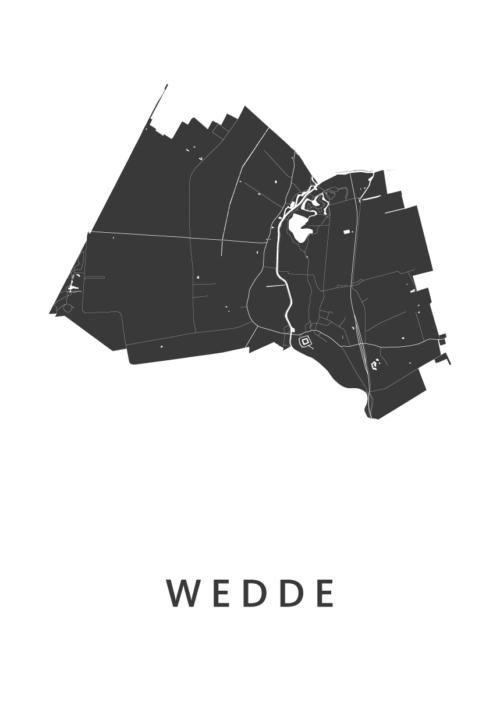 Wedde Stadskaart poster | Kunst in Kaart