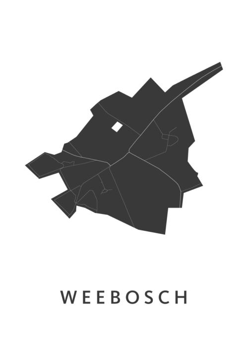 Weebosch Stadskaart - Wit | Kunst in Kaart