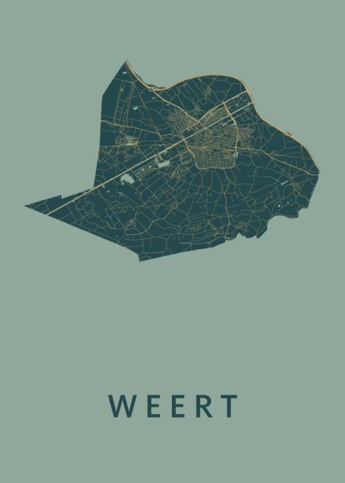 Weert Amazon Stadskaart Poster | Kunst in Kaart