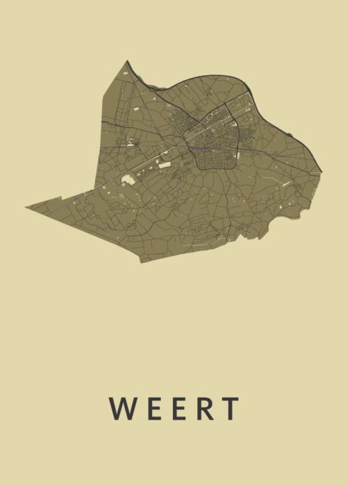 Weert GoldenRod Stadskaart Poster | Kunst in Kaart