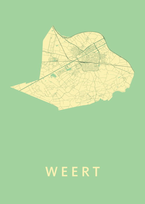 Weert Spring Stadskaart Poster | Kunst in Kaart