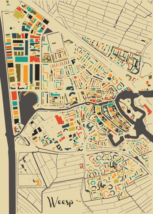 Weesp Autumn Mosaic Map