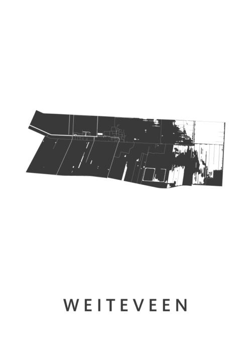 Weiteveen Stadskaart poster | Kunst in Kaart