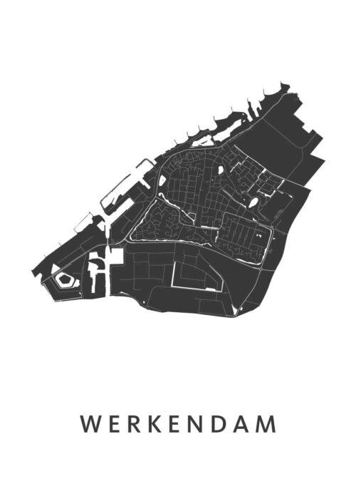 Werkendam Stadskaart poster | Kunst in Kaart