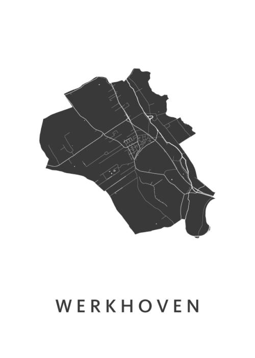 Werkhoven Stadskaart poster | Kunst in Kaart