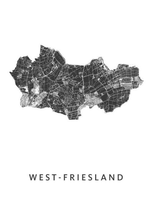 West-Friesland White Stadskaart