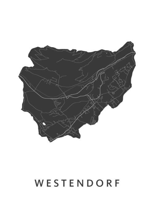 Westendorf Stadskaart poster | Kunst in Kaart
