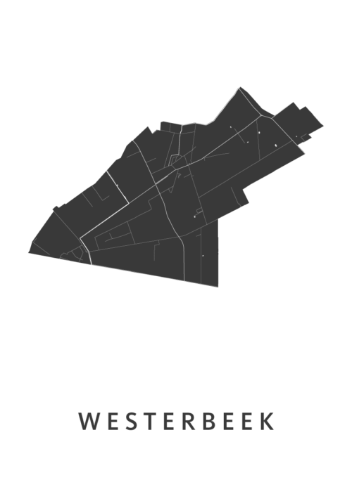 Westerbeek Stadskaart poster | Kunst in Kaart
