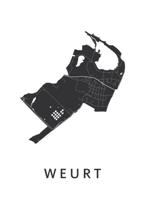 Weurt White city Map
