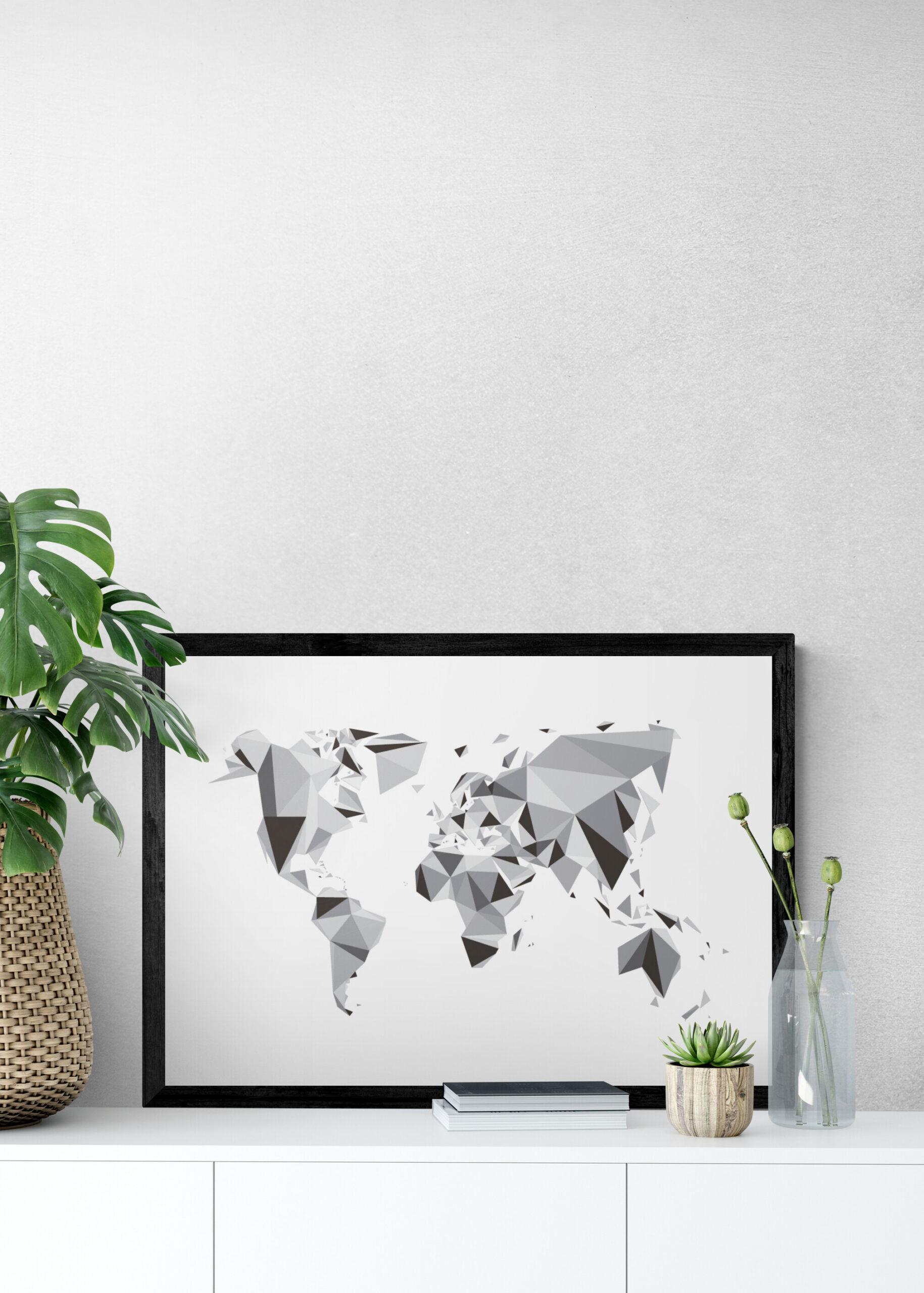 Wereldkaart posters - 3D