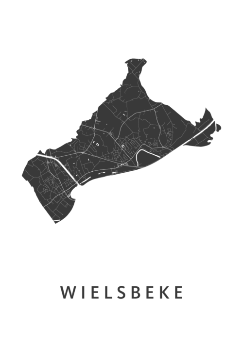 Wielsbeke Stadskaart poster | Kunst in Kaart