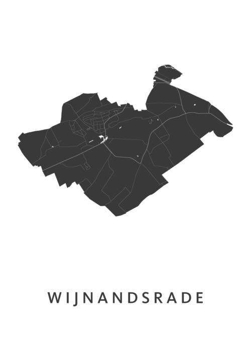 Wijnandsrade Stadskaart - Wit | Kunst in Kaart