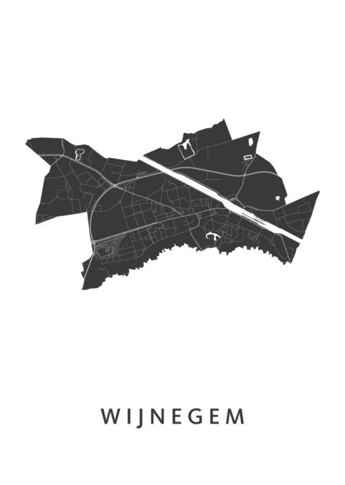 Wijnegem Stadskaart poster | Kunst in Kaart