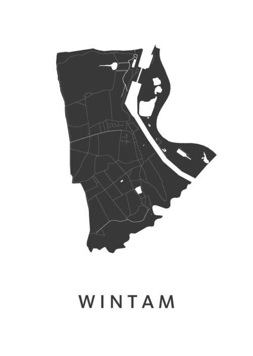 Wintam Stadskaart - White