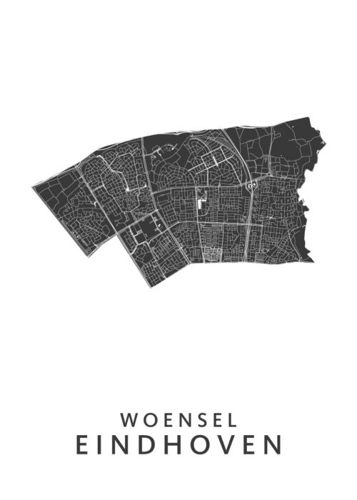 Eindhoven - Woensel White Wijk Map