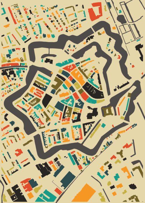 Woerden Autumn Mosaic Map