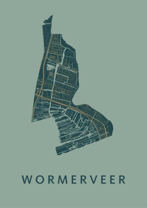 Wormerveer Amazon Stadskaart Poster | Kunst in Kaart