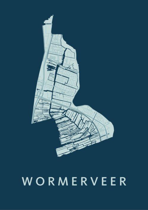 Wormerveer Feldgrau Stadskaart Poster | Kunst in Kaart