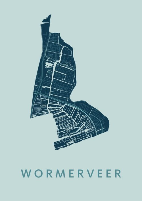 Wormerveer Mint Stadskaart Poster | Kunst in Kaart
