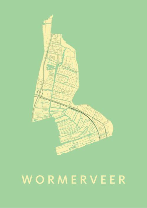 Wormerveer Spring Stadskaart Poster | Kunst in Kaart