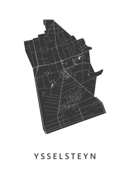 Ysselsteyn Stadskaart - White