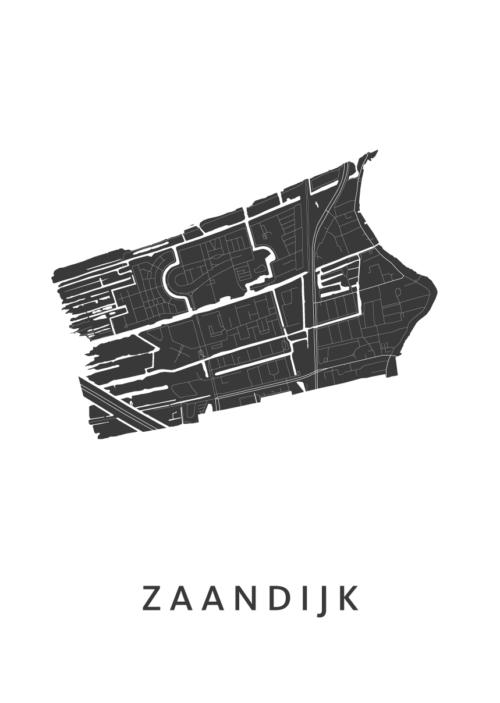 Zaandijk Stadskaart poster | Kunst in Kaart