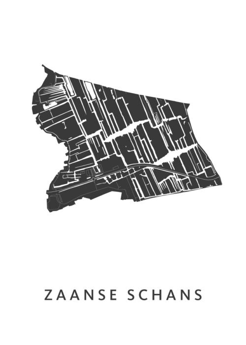 Zaanse Schans Stadskaart poster | Kunst in Kaart