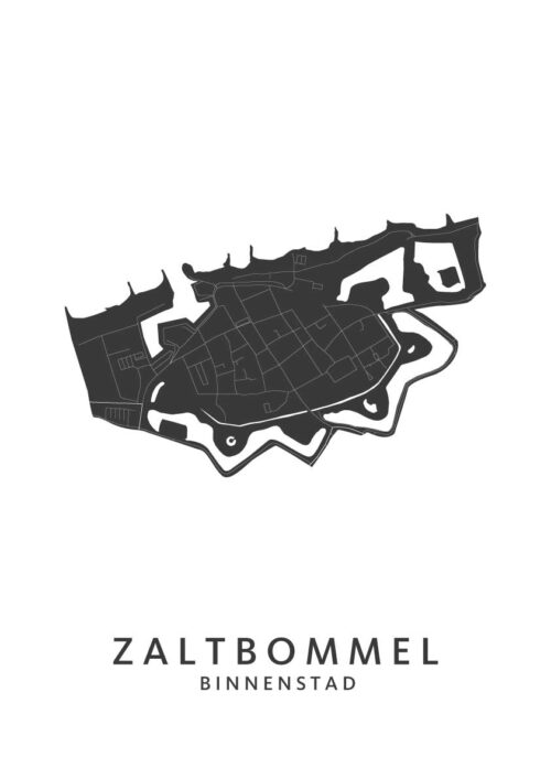 Zaltbommel - Binnenstad White City Map