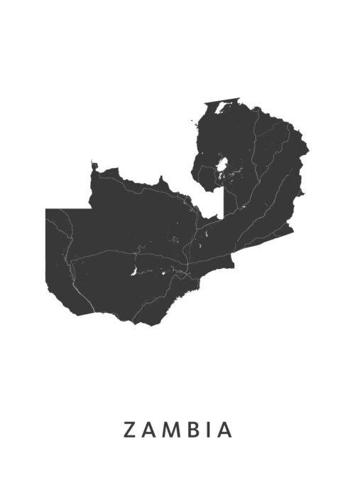 Zambia Landkaart