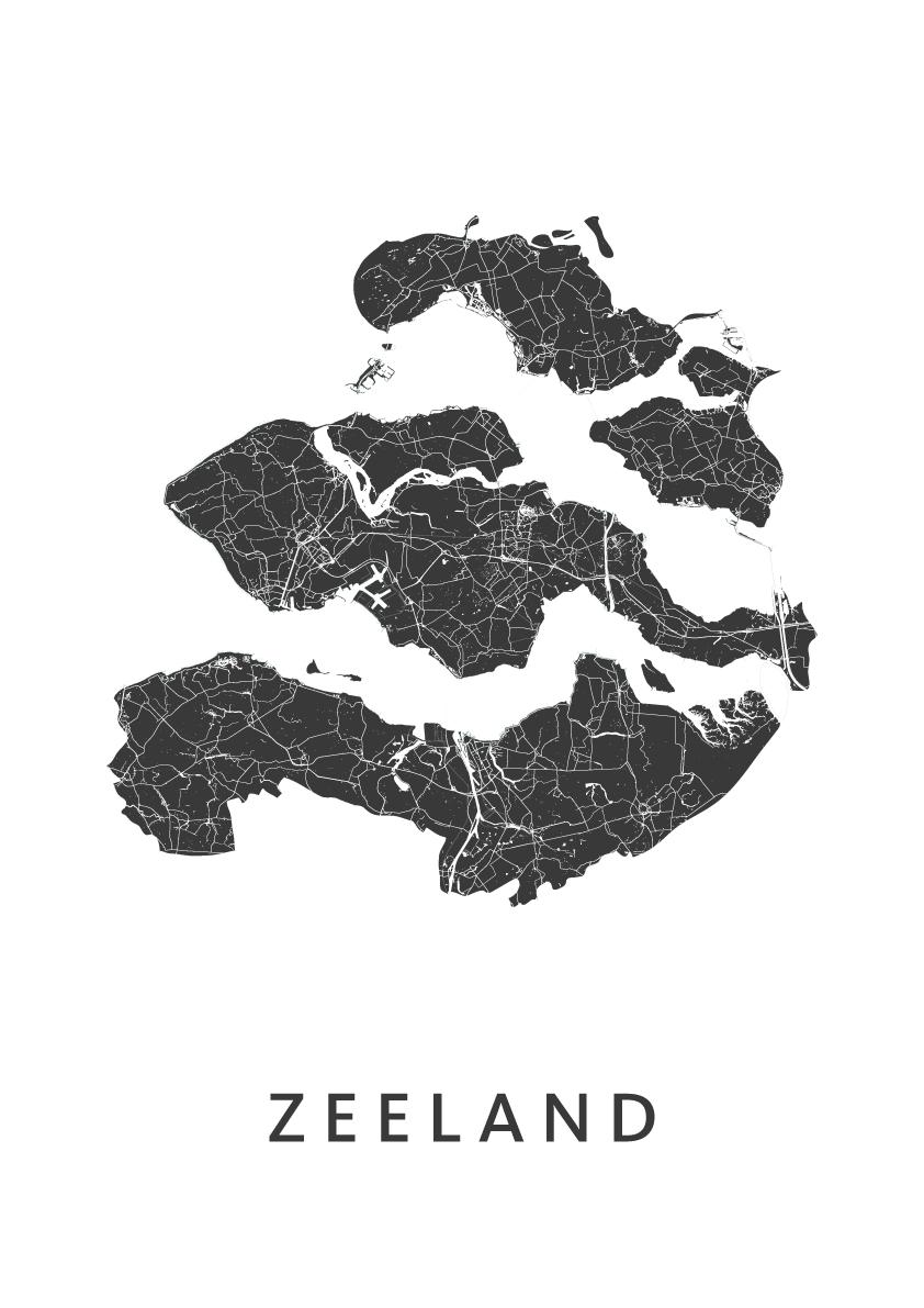 Zeeland Provinciekaart
