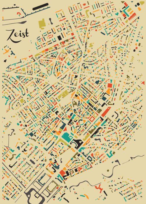 Zeist Autumn Mosaic Map