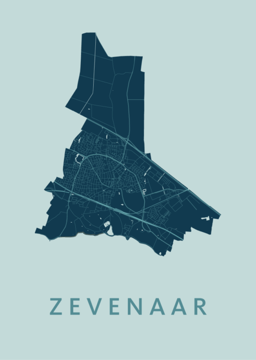 Zevenaar Mint Stadskaart Poster | Kunst in Kaart