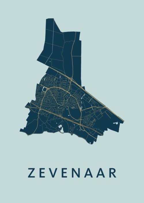 Zevenaar Prussian Stadskaart Poster | Kunst in Kaart