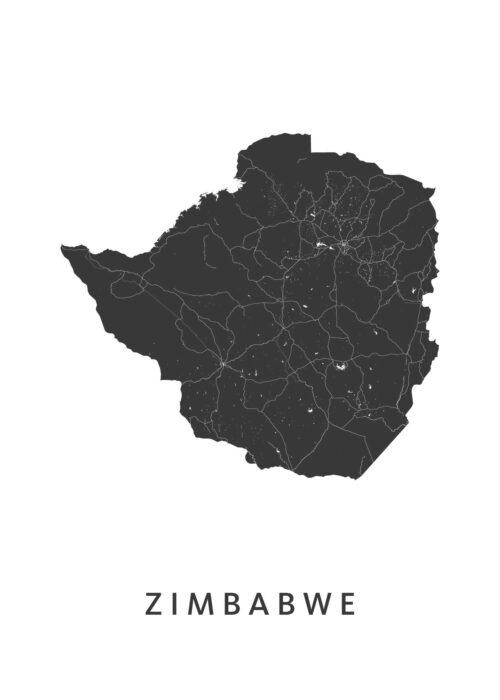 Zimbabwe Landkaart