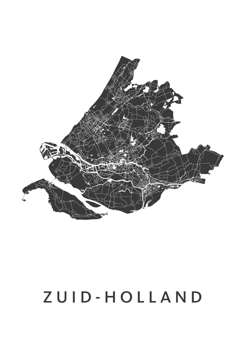 Zuid-Holland Provinciekaart