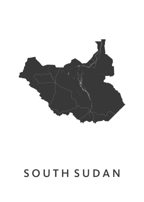South Sudan Landkaart