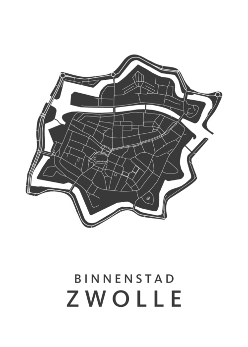Zwolle - Binnenstad White Wijk Map