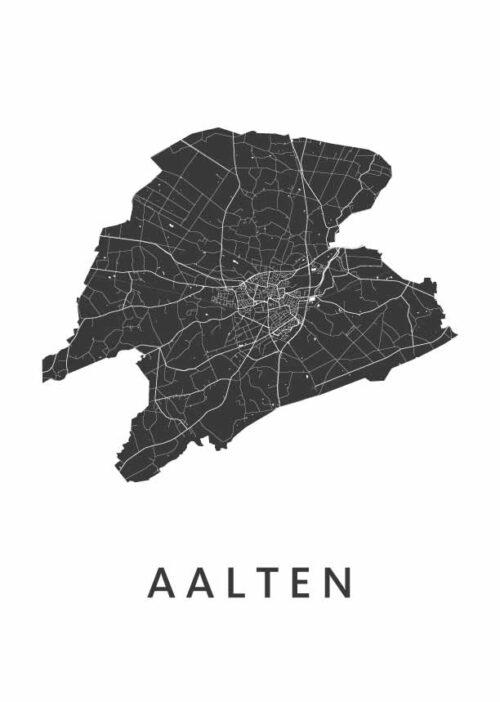 Aalten Stadskaart poster   Kunst in Kaart