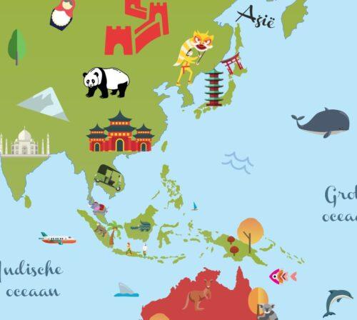 Wereldkaart voor kinderen - Europa