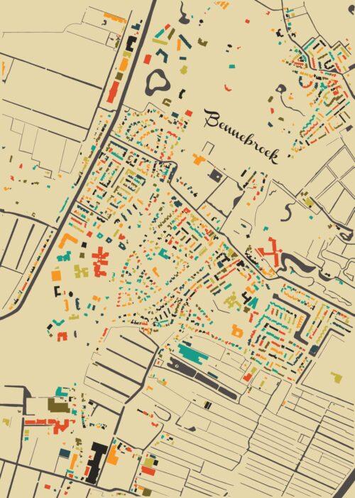 Bennebroek Autumn Mosaic Map