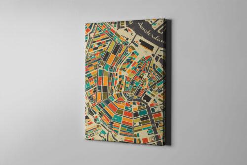 Canvas Kunst in Kaart / stadskaarten