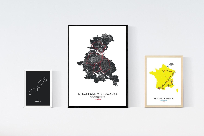 Sport kaarten posters - Kunst in Kaart