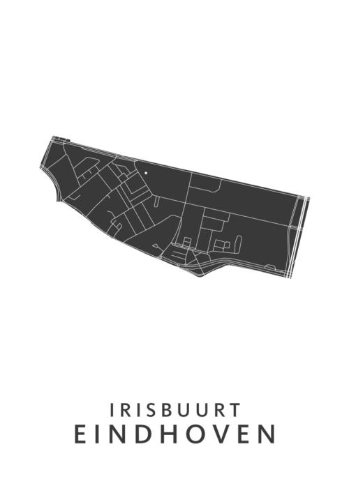 Eindhoven - Irisbuurt White Wijk Map