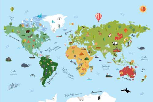 Wereldkaart voor kinderen - Kids World Map