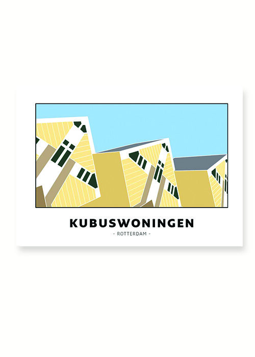 Kubuswoningen - Rotterdam - Poster