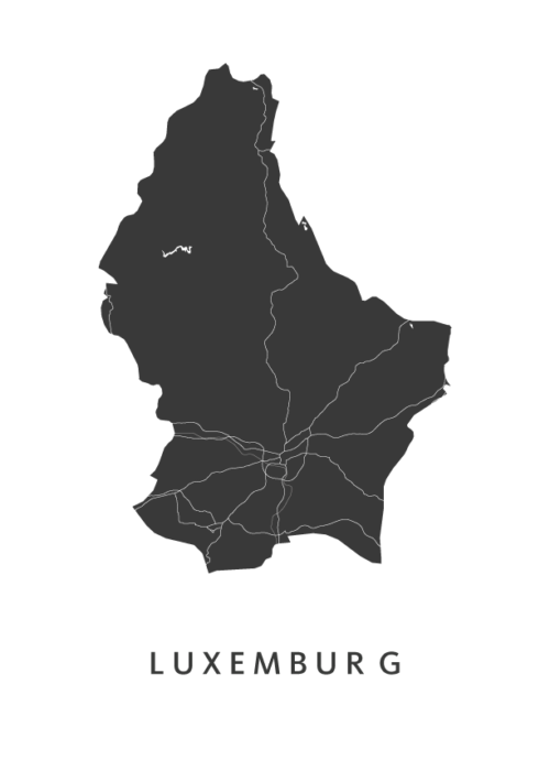 Luxemburg Country Map