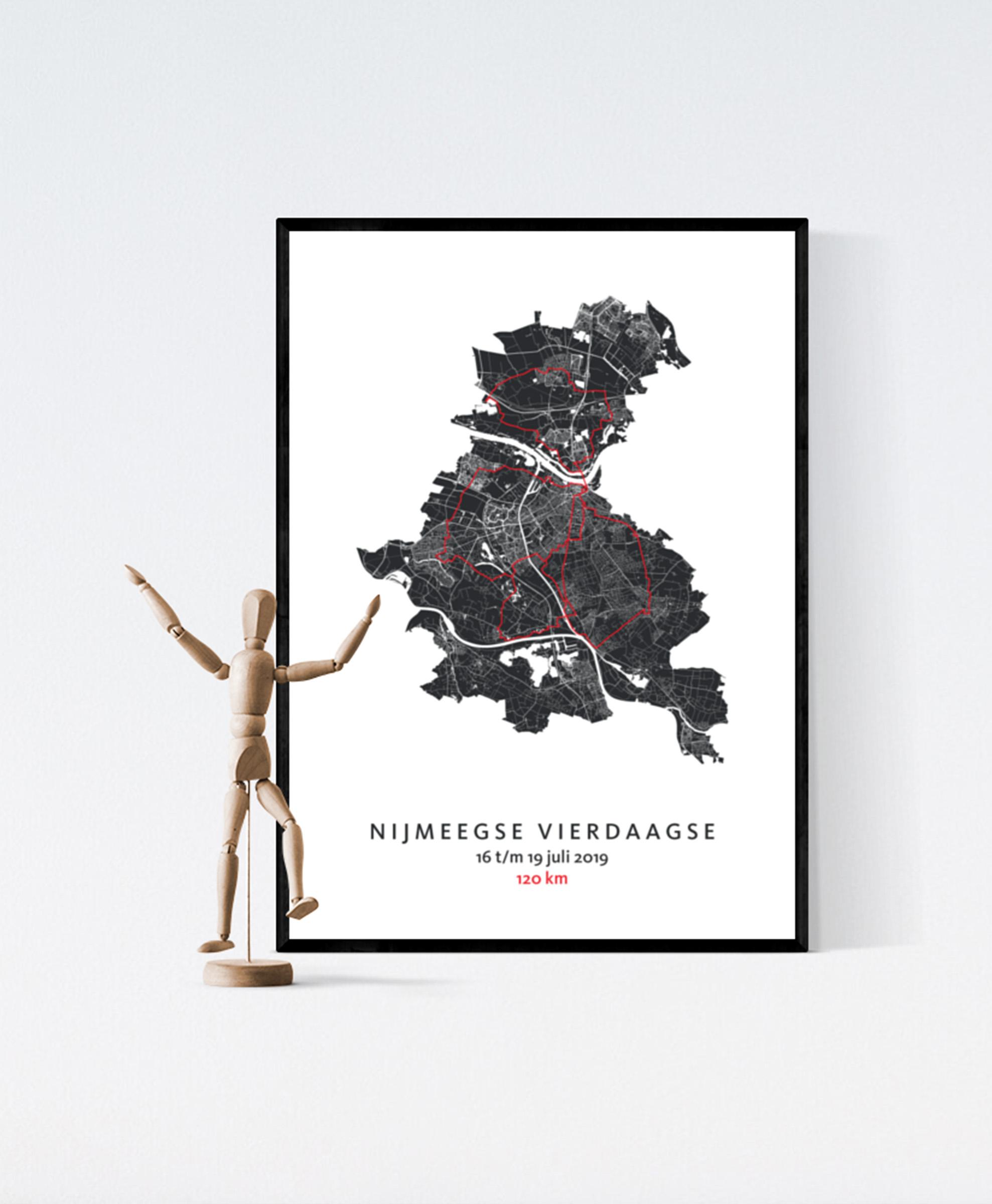 Nijmeegse Vierdaagse - poster kaart cadeau