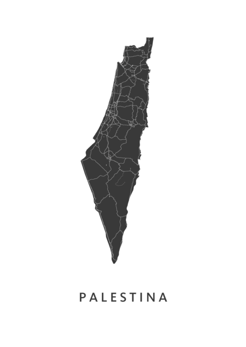 Palestina Country Map