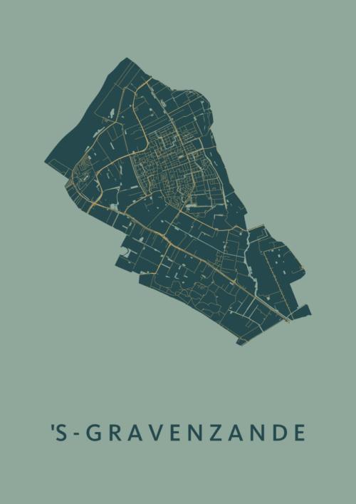 's-Gravenzande Amazon Stadskaart Poster | Kunst in Kaart