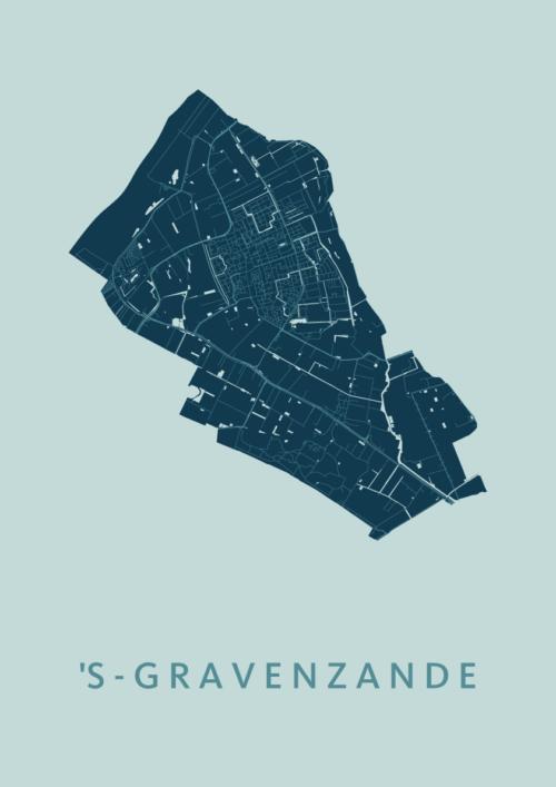 's-Gravenzande Mint Stadskaart Poster | Kunst in Kaart